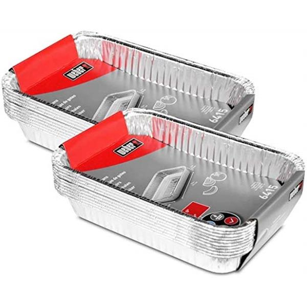Weber Small Drip Pans - Pack of 2 (20 Pans) Image 1